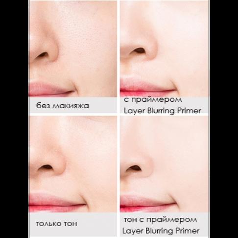 Основа под макияж,праймер корректирующий поры missha layer blurring primer (pore cover), фото 3