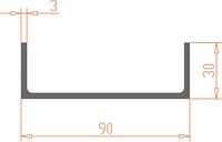 П-образный профиль 90х30х3