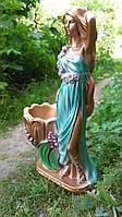 Садовая фигурка Светлана бронза в мятном платье 70 см