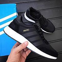Мужские кроссовки Adidas Iniki Runner Black White (43)