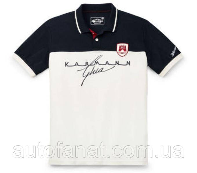 Оригинальная мужская рубашка-поло Volkswagen Classic Men's Polo Shirt, Karmann Ghia Beige/Blue (311084230ACG7)