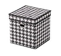 """Короб для зберігання з кришкою """"Scotland"""", 27x27x27 см"""