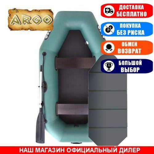 Лодка Argo A-250AK. Гребная, 2,50м, 2 места, 850/950ПВХ, стац. с-нья, сплошное днище. Надувная лодка ПВХ Арго А-250АК;