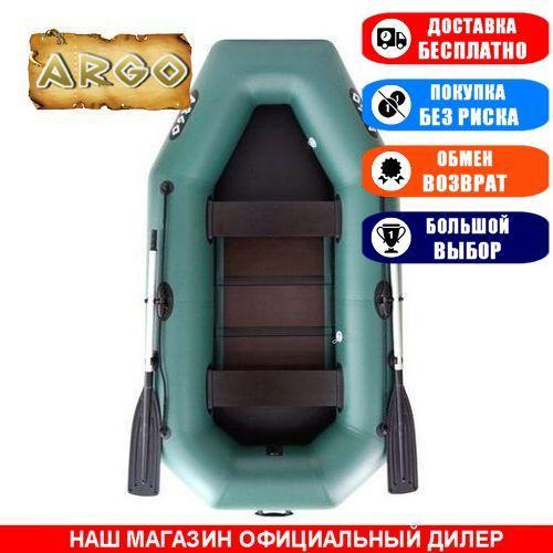 Лодка Argo A-260. Гребная, 2,60м, 2 места, 850/950ПВХ, стац. с-нья, реечное днище. Надувная лодка ПВХ Арго А-260;