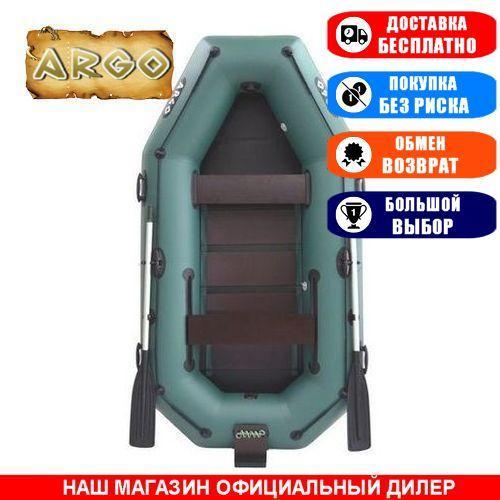 Лодка Argo A-260TB. Гребная, 2,60м, 2 места, 850/950ПВХ, стац/cдвиж. с-нья, реечное днище, транец, прив. брус. Надувная лодка ПВХ Арго А-260ТБ;