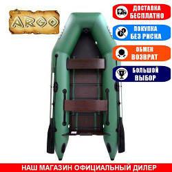 Лодка Argo AM-290. Моторная, 2,90м, 2 места, 1100/1100ПВХ, стац/cдвиж. с-нья, реечное днище. Надувная лодка ПВХ Арго АМ-290;