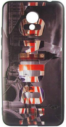 Силикон Meizu M5C 3D London black, фото 2