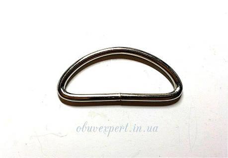 Полукольцо  проволочное 40*15 мм, толщ. 3 мм, Никель, фото 2