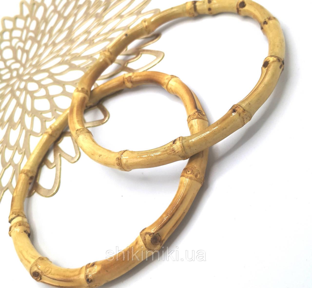 Ручки для сумок  круглые деревянные бамбуковые