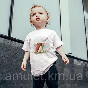 """Футболка детская """"Кролик и морковь"""", фото 2"""