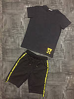 Стильная, мужская, летняя футболка с качественной накаткой (х/б Турция)