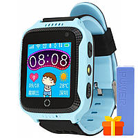 "➨Смарт-часы UWatch Q529 Blue для детей экран 1.44"" с GPS трекером Bluetooth батарея 400 мАч"