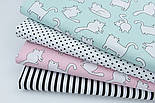 Лоскут ткани с котами Бонифаций на светло-мятном фоне №1963, размер 16*160 см, фото 3