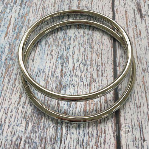 Ручки-кольца для сумок металлические, цвет никель