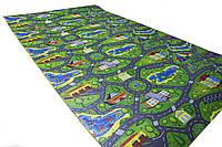 Детский теплоизоляционный развивающий игровой коврик  Городок 2000×1100×8мм