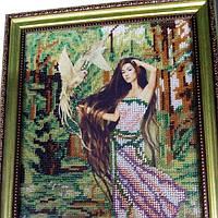 """Картина вишита бісером """"Лісова фея"""""""
