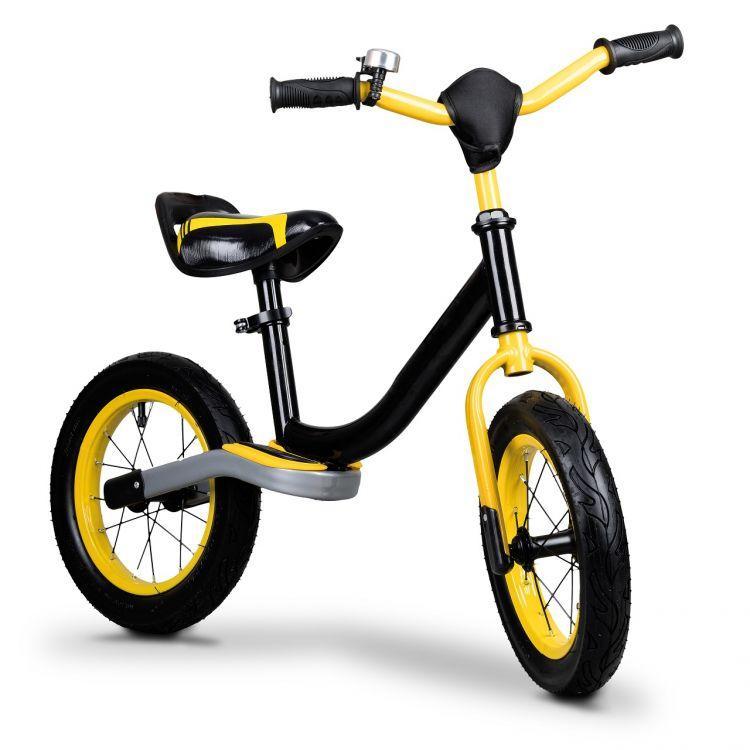 Беговел с надувными колесами EcoToys BW-1199 черный с желтым (8084)