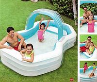 Надувной бассейн для дома и дачи.Детский бассейн.Бассейн детский надувной восьмиоугольный.