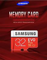 Оригинальная карта памяти SAMSUNG EVO + 32 Гб класс 10 Micro SD EVO plus UHS-I TF В подарок SD адаптер