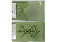 Набор ковриков в ванную 2 предмета Zambak Зеленые Arya AR-1380044-green
