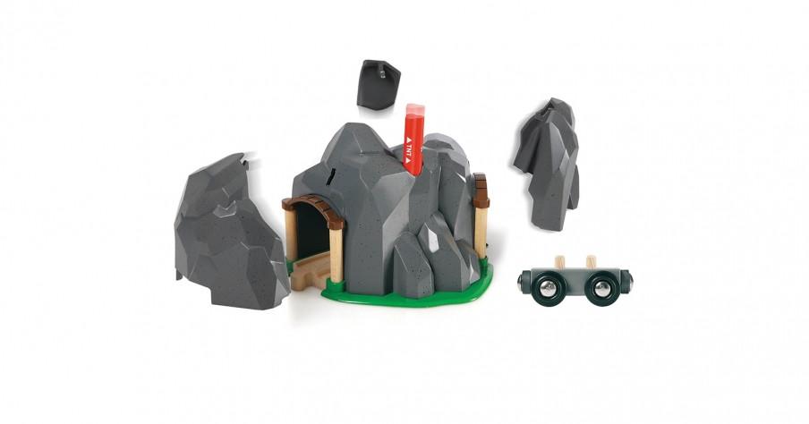BRIO Деревянная ж/д Тоннель в горе взрывающийся 33352