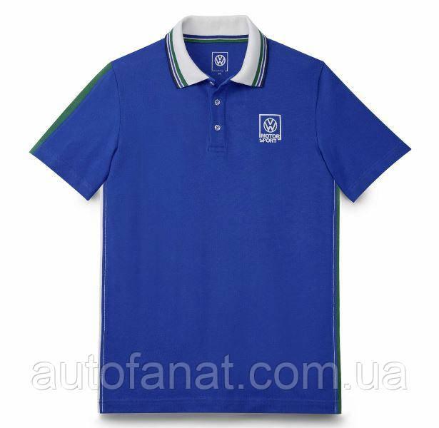 Оригинальная мужская рубашка-поло Volkswagen Motorsport Polo Shirt, History, Men's, Lapiz Blue (5NG084230A)