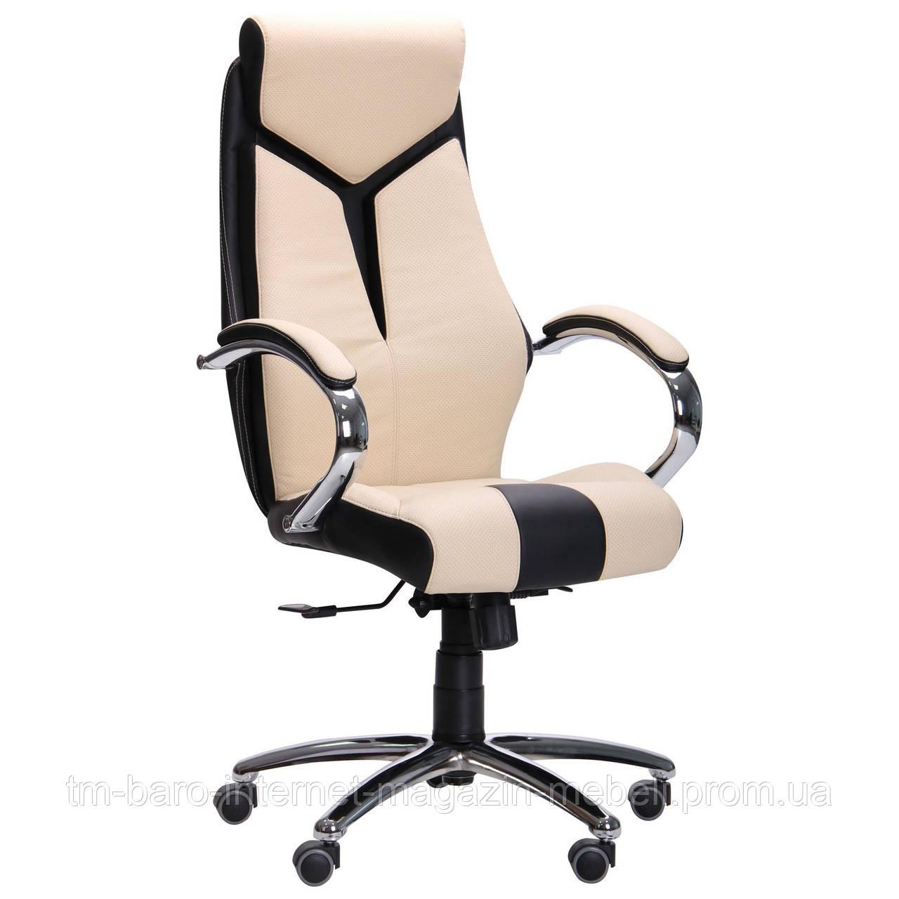 Кресло Прайм ANYFIX Хром Неаполь N-20 вставка Неаполь N-17 перфорир.