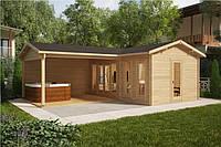 Дом деревянный из профилированного бруса 3х6. Кредитование строительства деревянных домов