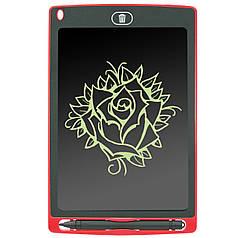 """☜Планшет графический Lesko LCD Writing Tablet 8.5"""" Red для рисования детям с стилусом"""