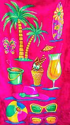 """Махровое пляжное полотенце """"Коктейль на пляже"""""""