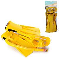 Набор для плавания и ныряния - маска, трубка и ласты, размер м, 55655