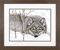 Набор для вышивки крестом Dimensions 70-35377 «Снежный волк»