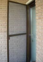 Москитная сетка дверная коричневая