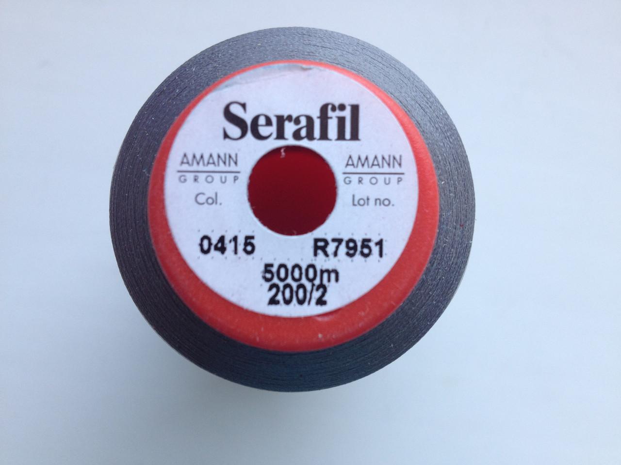Amann Serafil  №200.  цвет 0415 ( СВЕТЛО - СЕРЫЙ ). 5000 м