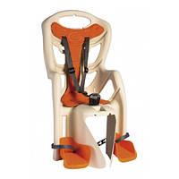 Сиденье заднее Bellelli Pepe Standart Multifix до 22кг, бежевое с оранжевой подкладкой