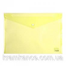 Папка на кнопке Axent 1402-26A, А4, глянцевая, прозрачная