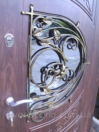 Входная дверь модель Т-1-3 34\1 ПВХ-80 КОВКА, фото 2