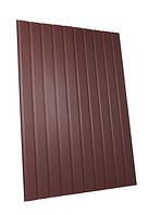 Профнастил стеновой ЛИСТ 1,2х2м коричневый