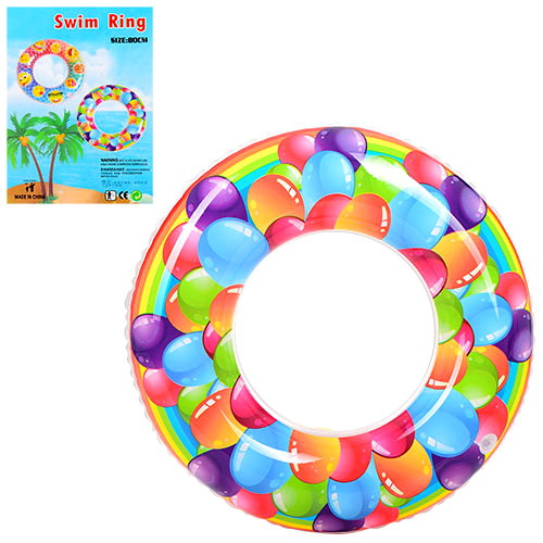 Круг D25578 надувной шарики, 80см, от 3-х лет, в кульке, 18-24-0,5см