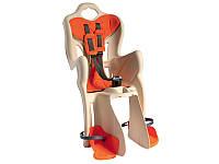 Сиденье заднее Bellelli B1 Standart до 22кг, бежевое с оранжевой подкладкой