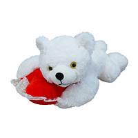 Мягкая игрушка Медведь Соня с сердцем