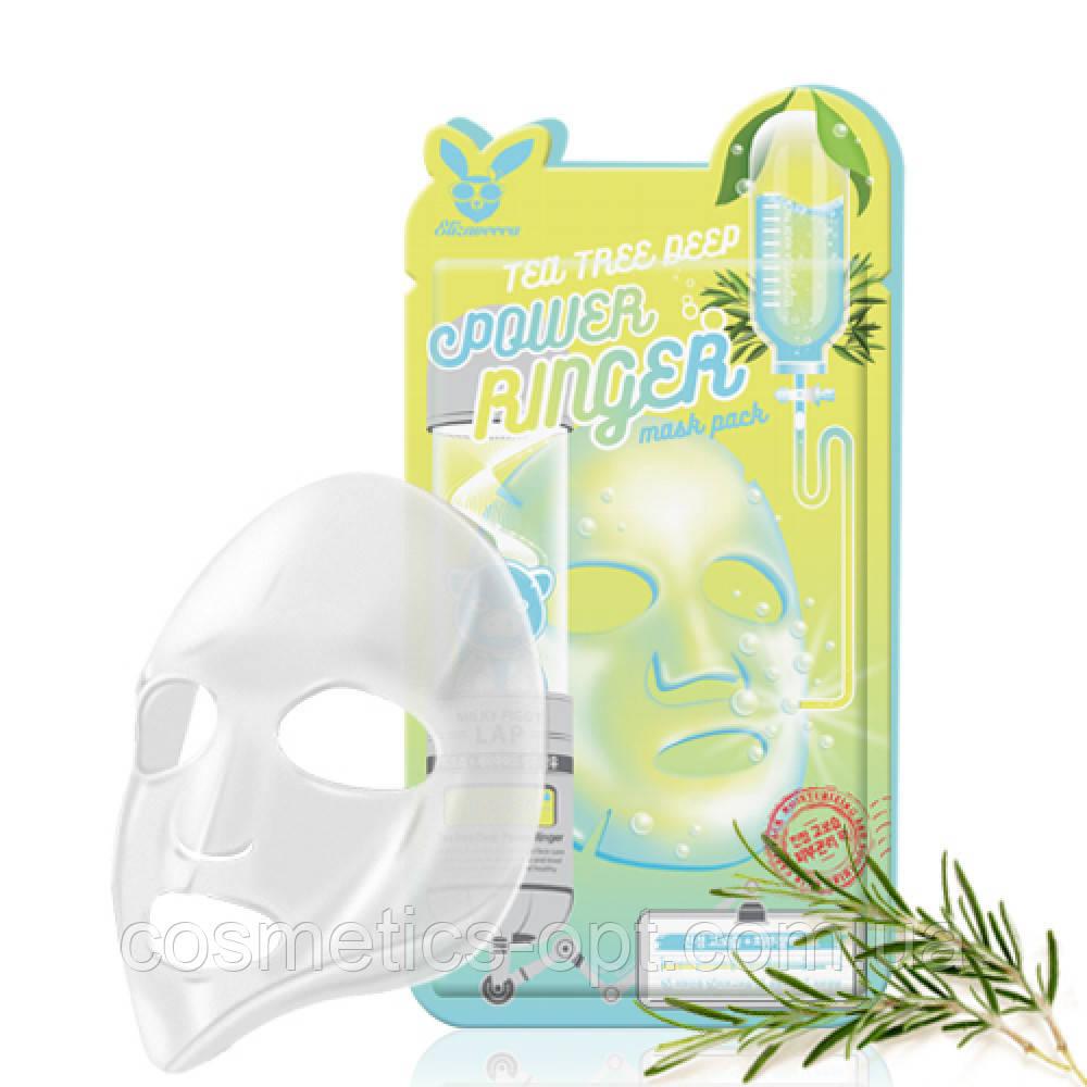 Тканевая маска для проблемной кожи ELIZAVECCA FACE CARE TEA TREE DEEP POWER RINGER MASK PACK