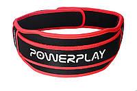 Пояс для важкої атлетики PowerPlay 5545 Чорно-Червоний (Неопрен)