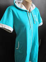 Женские летние халаты из турецкого трикотажа, фото 1