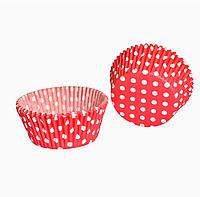 Капсула бумажная для кексов тарталетка в горох 1000 шт., фото 1