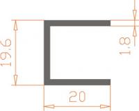 П-образный профиль 19.6х20х1.8