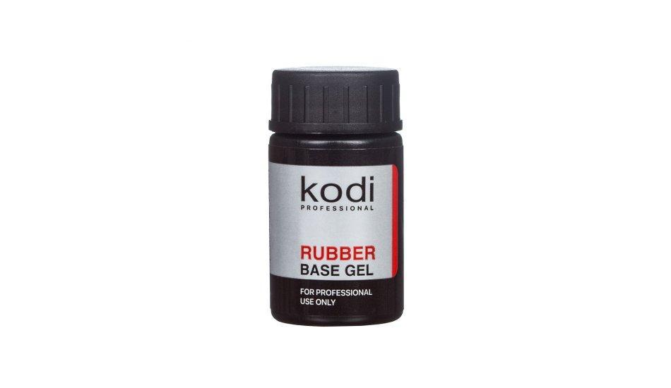 Базовое каучуковое покрытие для гель лака, основа Kodi Rubber Base, 14 мл