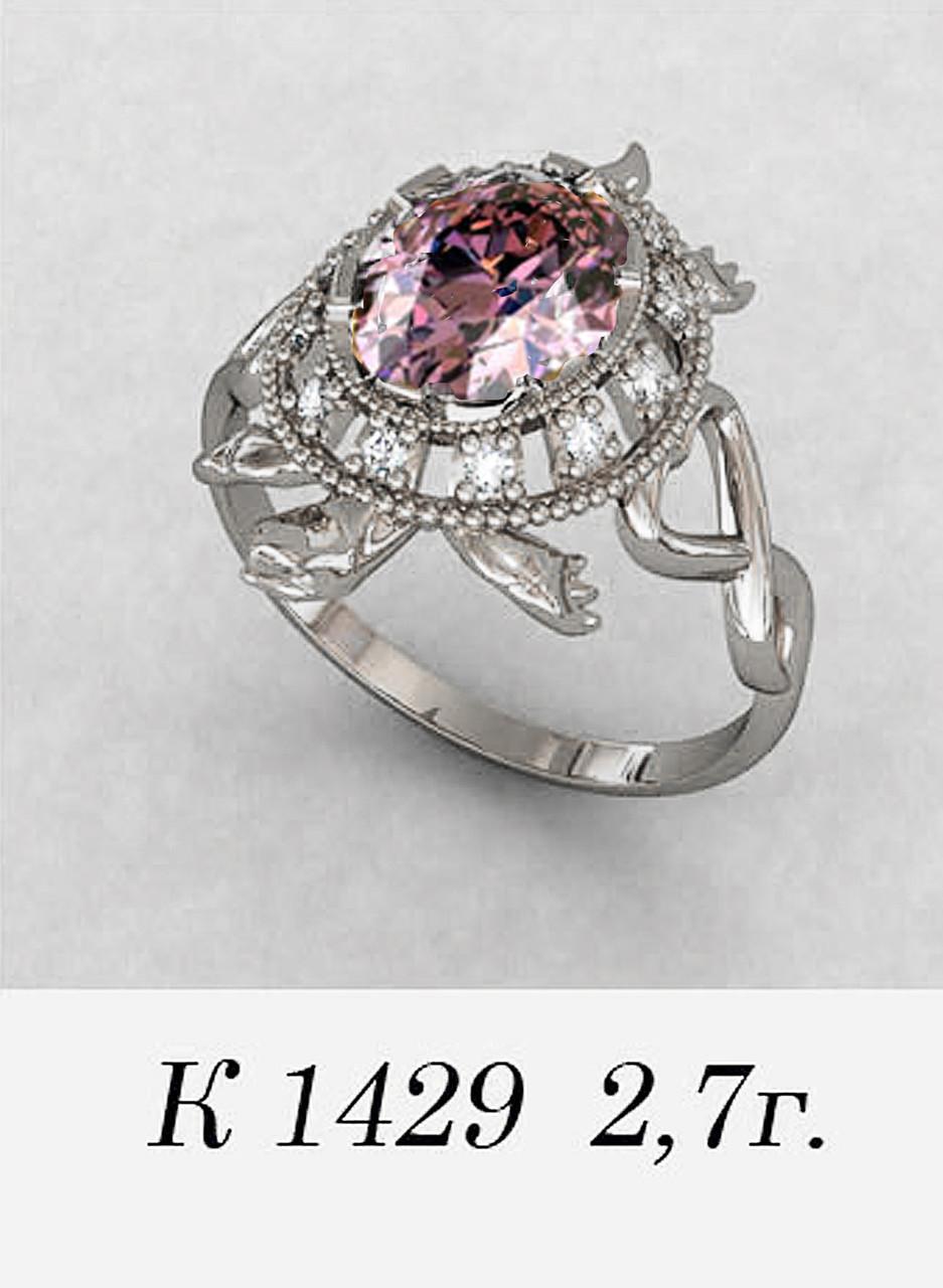 Кольцо  женское серебряное Черапаха