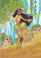 Схема для вышивки бисером  Гавайская девушка КМР 4177