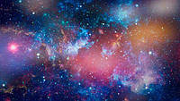 Глянцевые фотообои космос разные текстуры , индивидуальный размер